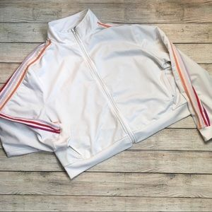 2/$22 Forever 21 Cropped Track Jacket 2X